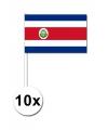 Zwaaivlaggetjes Costa Rica 10 stuks