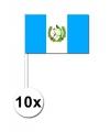 Zwaaivlaggetjes Guatemala 10 stuks