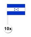 Zwaaivlaggetjes Honduras 10 stuks