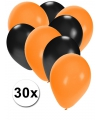 Oranjete en zwarte ballonnen 30 stuks