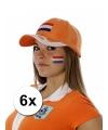 Hollandse vlag tattoeages 6 stuks