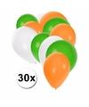 Fan ballonnen groen/wit/oranje 30 stuks
