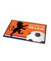 Oranje voetbal deurmat