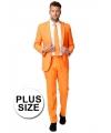 Grote maat oranje pak