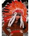 Luxe indianentooi rood/oranje
