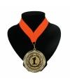 Nummer 1 kampioensmedaille oranje