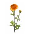 Oranje Ranunculus kunsttak 45 cm