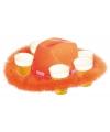 Oranje bier hoed met bont