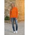 Oranje polo trui voor dames