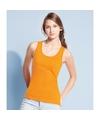 Dames mouwloos t-shirt oranje