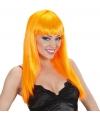 Damespruik oranje stijl haar
