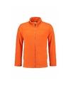 Warme fleecetrui oranje met rits voor volwassenen