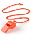 Voordelig plastic fluitje oranje