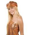 Oranje glitter glamour damespet