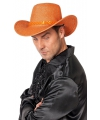 Oranje cowboyhoed met glitters