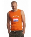 Heren singlet met de Hollandse vlag