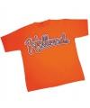 Heren baseball t-shirt oranje