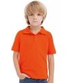 Oranje polo voor kinderen