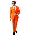 Oranje kostuums de luxe