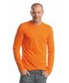 Fel oranje t-shirt met lange mouwen