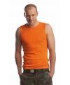 Heren tanktop oranje
