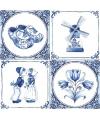 Papieren servetten met Delfts blauw thema print 20 stuks