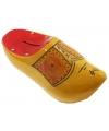Geel/rode klomp spaarpot 16 cm