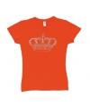 Nederland supporters t-shirt met kroon voor dames
