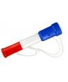 Plastic toetertje rood-wit-blauw 20 cm