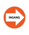 Oranje bewegwijzering stickers Ingang 4 st