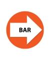 Oranje bewegwijzering stickers Bar 4 st