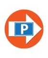 Bewegwijzering stickers oranje met P symbool 4 st