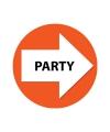 Bewegwijzering stickers oranje Party 4 st