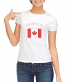 Canadese vlag t-shirt voor dames