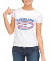 Nederland t-shirt voor dames met vlaggen print