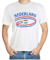 Nederland t-shirt met vlaggen print