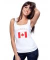 Canadeese vlag tanktop/ t-shirt voor dames