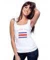 Costa Rica vlag tanktop/ t-shirt voor dames