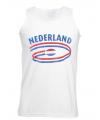 Holland tanktop voor heren met vlaggen print